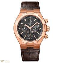 Vacheron Constantin Overseas 18K Rose Gold Leather Chronograph...