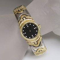 Bulgari Parentesi Damen Uhr original Diamant Ref. BJ 01 Stahl-/GG