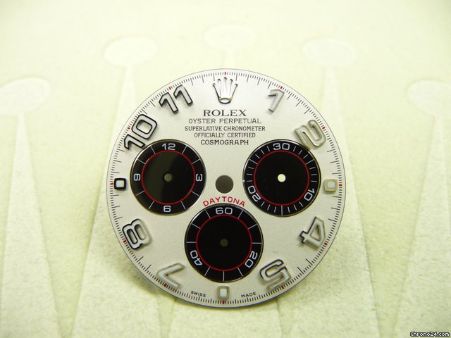 Rolex Zifferblatt fr Daytona Weigold, black/white arab RACING DIAL
