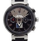 Louis Vuitton Black Steel Tambour LV Cup Regatta Automatic...