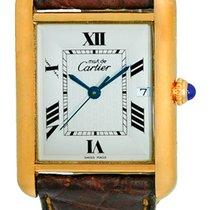 """Cartier """"Must De Cartier"""" Tank Strapwatch."""