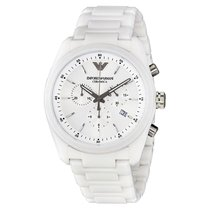 Armani Ceramica White Dial Ladies Watch AR1493