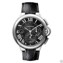 Cartier Ballon Bleu Chronograph w6920079 Stainless Steel Black...