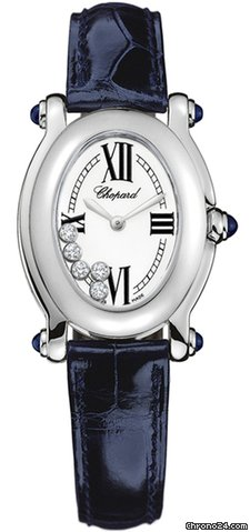 Chopard Happy Sport Oval 5 Floating Diamonds