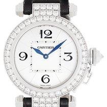 Cartier Pasha 18k White Gold & Diamond Ladies Watch on...