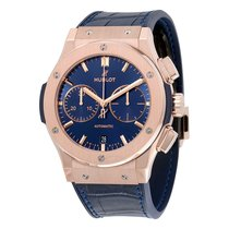 Hublot Classic Fusion Blue Sunray Dial 18K King Gold Automatic...