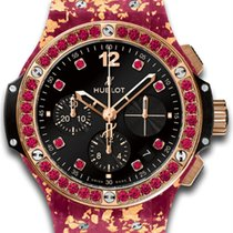 Hublot [NEW] Big Bang Gold Linen Black Spinel Limited Ed Ladies