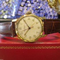 Mens Mid-size Vintage Jules Jurgensen 14 Karat Gold Round...