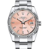 Rolex Oyster Perpetual Date 34 115234-PNKSFO Pink Index Fluted...