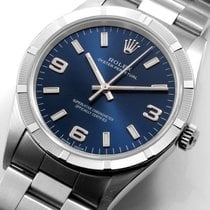 Rolex 34mm Airking Military Blue Arabic & Index Dial 14000...