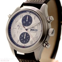 IWC Spitfire Doppelchronograph Ref-IW371806 Stainless Steel...