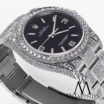 Rolex Oyster Perpetual 36mm Black W/ Pink Custom Added...
