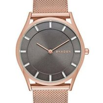 Skagen Womens Holst Slim Crystal Watch - Steel Mesh - Rose-Gol...