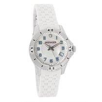 Wenger Ladies Squadron MOPDial White Strap Swiss Quartz Watch...