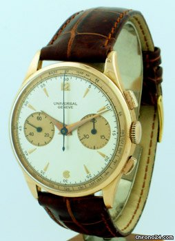 Universal Genve 2 Register Chronograph circa 1940&amp;#39;s