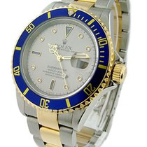勞力士 (Rolex) Used 16613silverserti_used 2-Tone Submariner with...