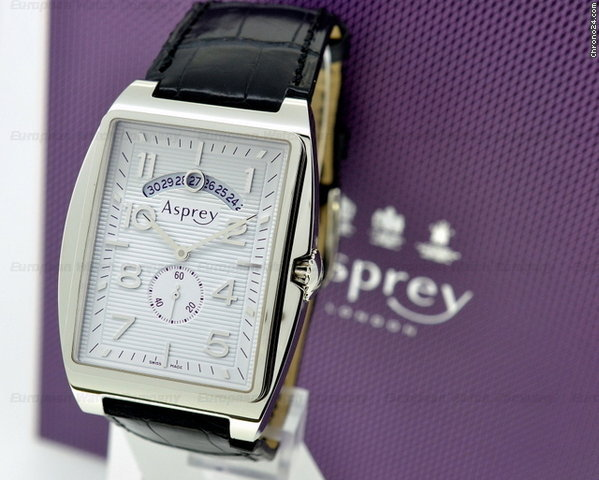 Asprey No. 8 Rectangular Automatic SS / White Dial
