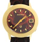 Bulova Accutron Solid 14k Yellow Gold Red Dial 37mm Watch 41311
