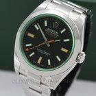 Rolex Milgauss Ref 116400GV Stainless Steel Green Crystal