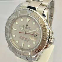 Rolex Yatchmaster Mens 40mm Steel Platinum Bezel Watch
