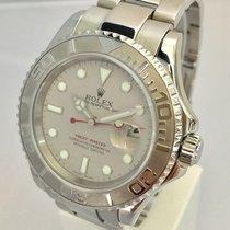 勞力士 (Rolex) Yatchmaster Mens 40mm Steel Platinum Bezel Watch