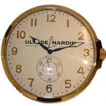 Ulysse Nardin Wall Clock In Golden Plastic Quartz , 40cm