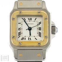 Cartier Uhr Santos Edelstahl/Gold Damen Automatik Revision