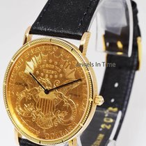 Corum Double Eagle Twenty $20.00 U.S. Gold Coin 1882 Quartz Watch