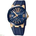 Ulysse Nardin Executive Dual Time Blue Rose Gold 18 K Men`s Watch