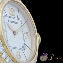 Cartier Pasha 18kt Gelbgold mit Brillant-Besatz Lünette 32mm