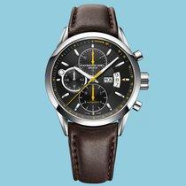 Raymond Weil Freelancer Chronograph Schwarz Lederband braun -NEU-