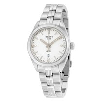 Tissot PR 100 T-Classic Silver Dial Diamond Ladies Watch