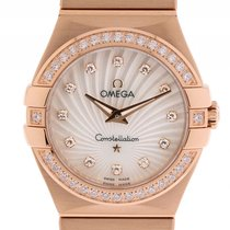 Omega Constellation 18kt Roségold Diamond Perlmutt Quarz...
