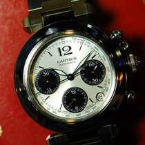 Cartier Pasha Ss Chronograph Date Automatic (near Mint)