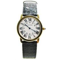 Cartier Ronde Solo De Cartier 18 K Yellow Gold White Quartz...