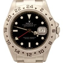Rolex Explorer II Auto Stainless 40mm 16570T No holes Watch