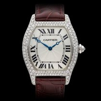 Cartier Tortue Original Diamonds 18k White Gold Unisex...