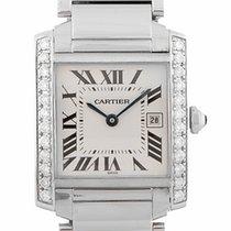 Cartier Tank Francaise Steel Midsize Diamond W51011Q3