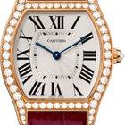 Cartier Tortue Silver Dial 18kt Rose Gold Diamond Unisex ...