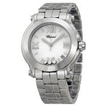 Chopard Happy Sport White with Diamonds Dial Ladies Watch