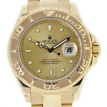 Rolex YACHT-MASTER 40mm 18K Yellow Gold Watch Champagne Dial