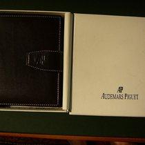 Audemars Piguet genuine veal leather wallet, dark brown, new...