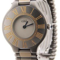 Cartier Must 21 Bullet 18K Yellow Gold & Stainless Steel...