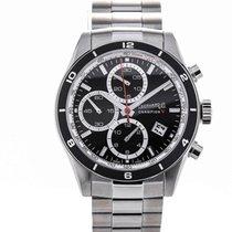 Eberhard & Co. Champion V Black Dial Steel Chronograph