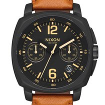 Nixon A1073-2447 Charger Chrono Leather Herren 44mm 10ATM