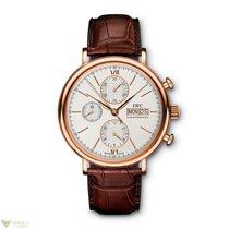 IWC Portofino Chronograph Red Gold Silver Dial Men`s Watch