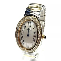 Cartier Baignoire 2 Tone Ladies Bracelet Watch W/ Factory...