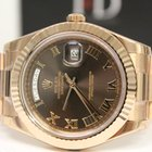 Rolex Day-Date 41mm Rose Gold Chocolate Roman Dial