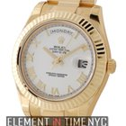 Rolex Day-Date II President 18k Yellow Gold 41mm White Roman...