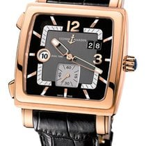 Ulysse Nardin Quadrato Dual Time 18K Rose Gold Men's Watch